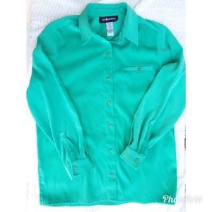 💎5/$25💎 Sag Harbor green soft button up